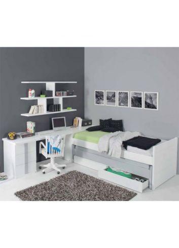 cama doble con cajones trebol mobiliario