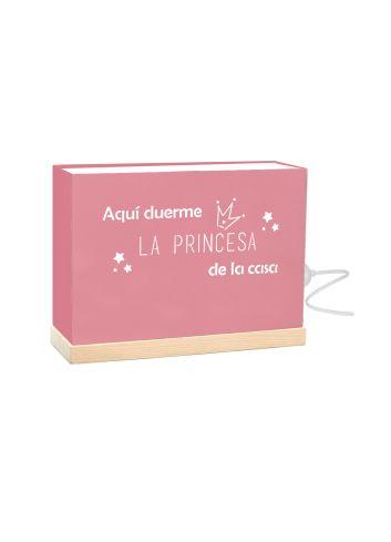 lampara frase rosa